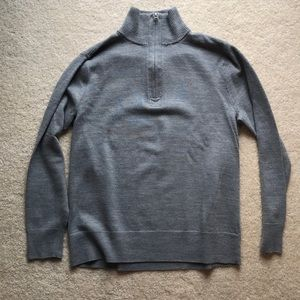 Jcrew factory men's gray sweater size S